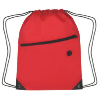 Poly Cinch Pack w/Front Zipper