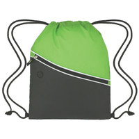 Colorblock Poly Cinch Pack w/Front Zipper