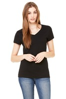Bella + Canvas Ladies' 100% Cotton Slim Fit V-Neck T-Shirt (4.2 oz.)