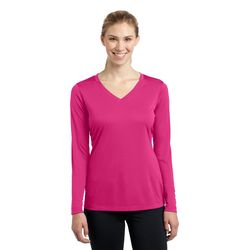 Sport-Tek® Ladies Competitor™ Long Sleeve V-Neck Performance Tee Thumbnail